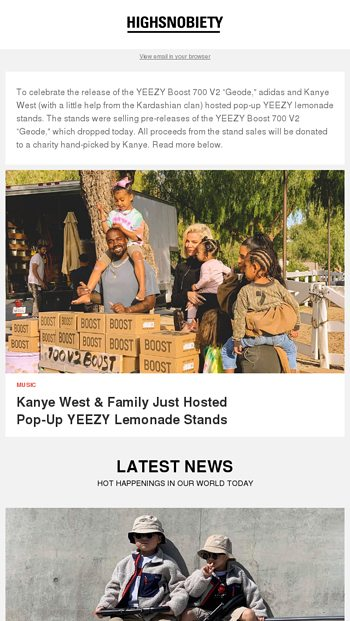 6dccfa8c511bf9 Kanye West amp the Kardashians hosted a popup YEEZY lemonade stand