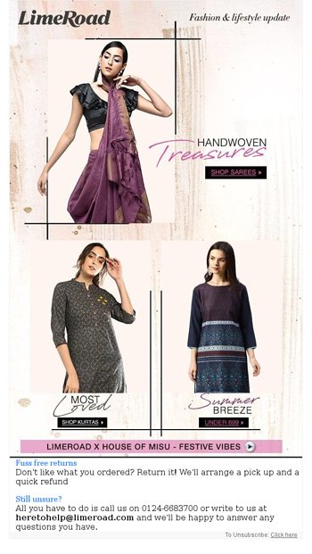 ONE DAY SALE | Most Loved Kurtas ❤ - LimeRoad Email Archive