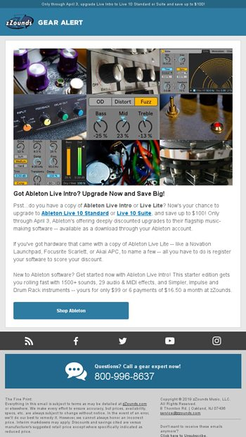 Got Ableton Live Intro? Upgrade Now and Save Big! - zZounds