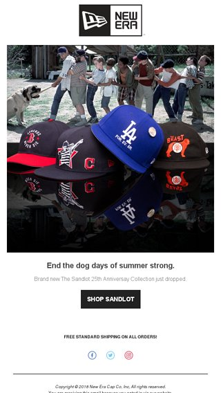 1ac30f39c5a Your team. Football is back. 2 Caps. Aug 27. The Sandlot 25th Anniversary  Collection  Drop Two