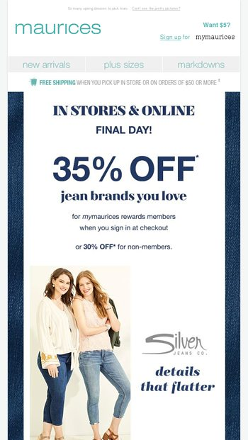 1f2e91513f2 LIMITED TIME  35% off Silver Jeans Co.