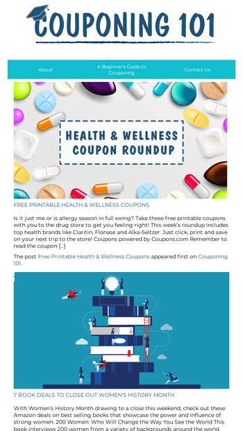 Free Printable Health Wellness Coupons And More Couponing 101 Email Archive