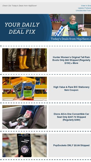 22ca7f6f5514 Hunter Boots ☔  3 Old Navy Deals 🤑   More! - Hip2Save Email Archive