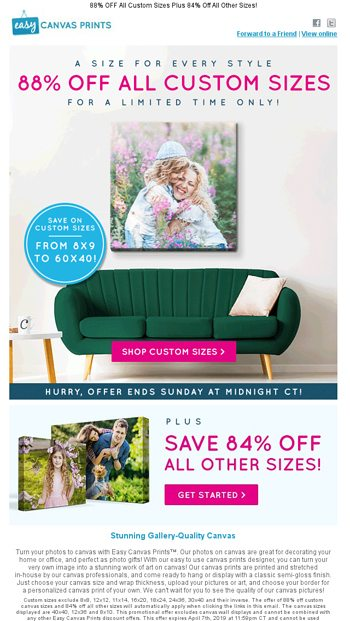 Up to 88% OFF Canvas Prints ☀️ Brighten Your Walls! - Easy
