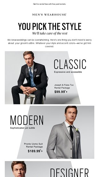 7fab183772 Head-to-toe tux rental packages for just  99.99! - Men s Wearhouse Email  Archive