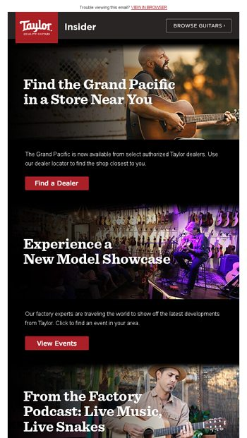 Discover Taylor's latest models - close to home - Taylor Guitars