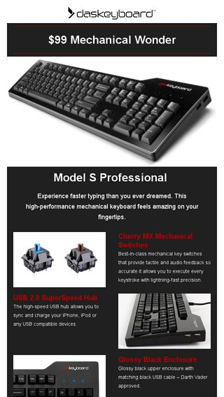 Memorial Day Sale: $99 Mechanical Keyboard - Das Keyboard Email Archive