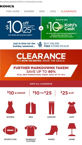 505ebd8587 Don t miss out on 80% off Clearance deals +  10 off when you spend  25!