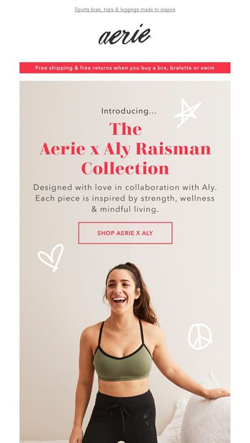 Introducing The Aerie X Aly Raisman Collection Aerie Email Archive