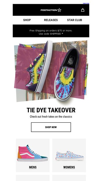 9583cdc22eaa Vans get a psychedelic remix - Footaction Email Archive