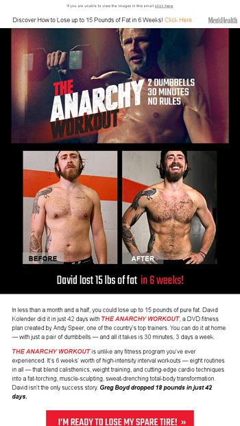 2 Dumbbells  30 Minutes  No Rules  - Men's Health Email Archive