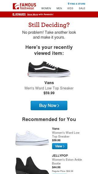still interested famous footwear email archive