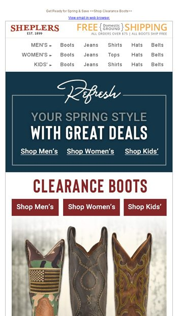 e767e24a3 Clearance Boots: Refresh Your Wardrobe With New Mark Downs