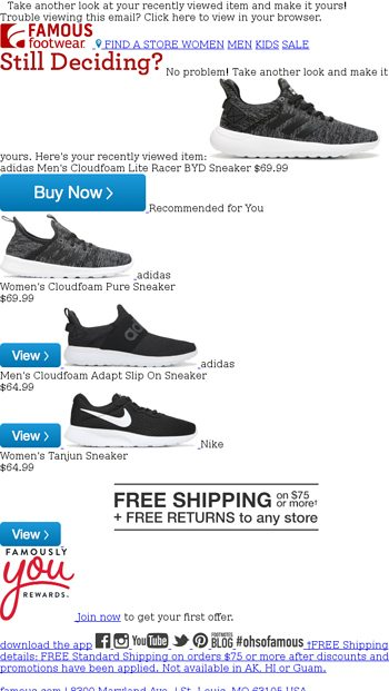 872aa7ef1f2c4 Famous Footwear Email Newsletters