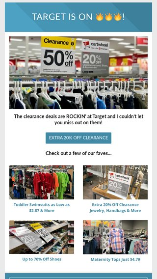 aacca70e2b6a Up to 90% Off Clearance 🏃 💃🕺 - Hip2Save Email Archive
