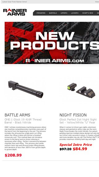 Brand new just for you! - Rainier Arms Email Archive