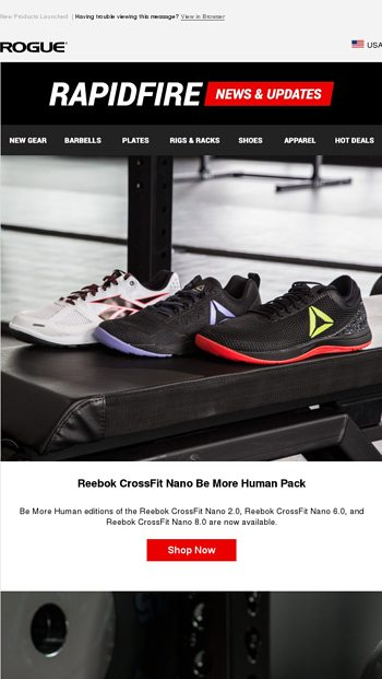 b62b62ccf36a Just Launched  Reebok CrossFit Nano Be More Human Pack   Nike Romaleos 3 XD Weightlifting  Shoes!