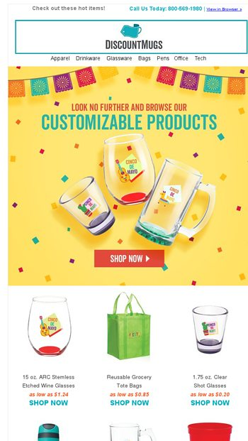 Spice up Cinco de Mayo with our selection of custom products