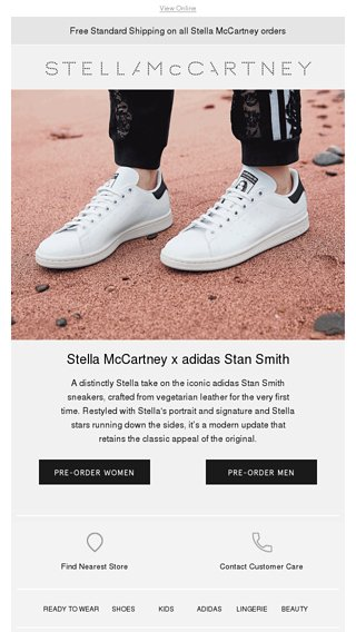 sports shoes 43dab c4ca4 Pre-order the new Stella #StanSmith sneakers - Stella ...