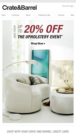 An Upholstery Sale Better Sit Down Crate And Kids Email Archive