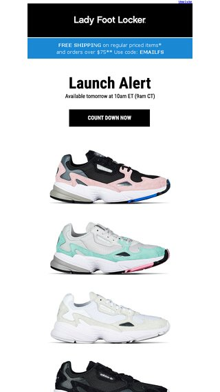 Lady Foot Locker Email Archive