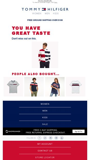 5ae048816b8d Your cart has a hard time letting go - Tommy Hilfiger Email Archive