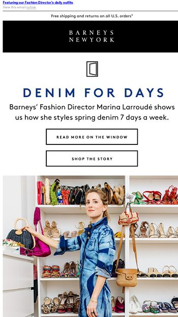 fb359ca5791a How To Style Denim 7 Days a Week - Barneys New York Email Archive