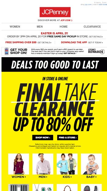 f346414ccc50 New for the crew  25% off Nike shoes   apparel - JCPenney Email Archive